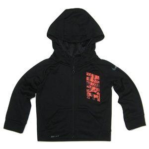 Nike Dri-Fit Toddler Boys Full Zip Hoodie Black 2T